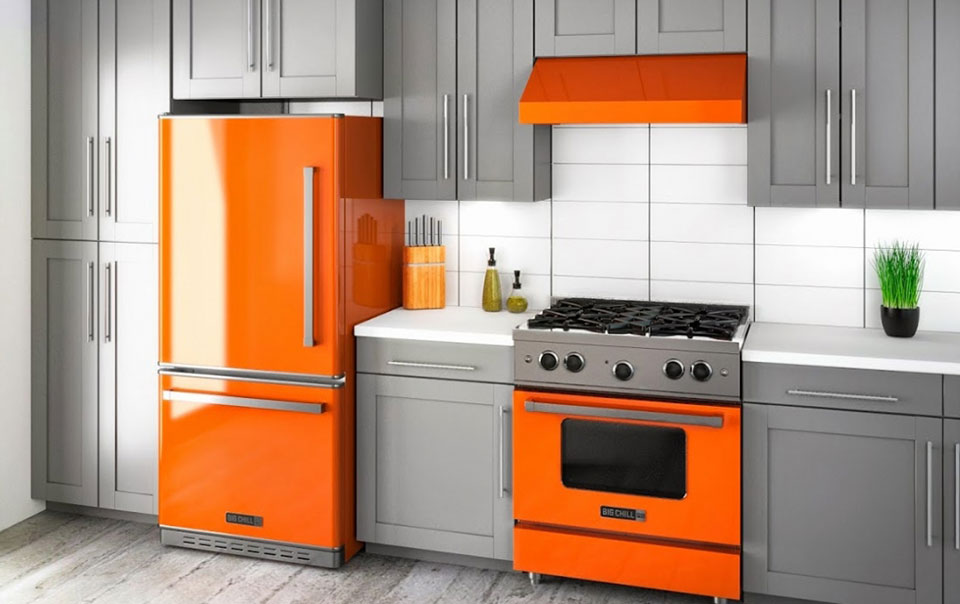 Big Chill Modern Kitchen Orange