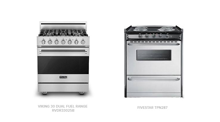 the Viking Dual Fuel Range with FiveStar TPN287