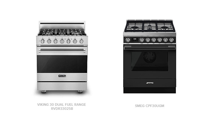 Comparing the Viking  Dual Fuel Range with Smeg CPF30UGM