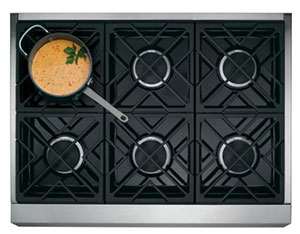 GE Monogram 36-Inch Gas Range 6-burner