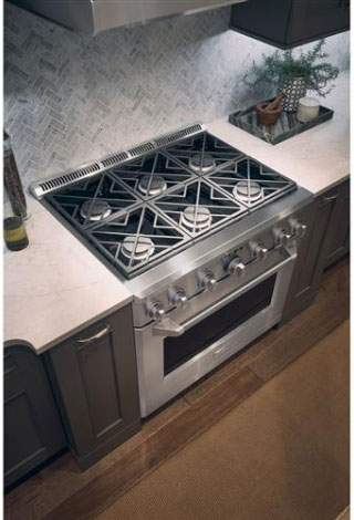 GE Monogram 36-Inch Gas Range Mounted