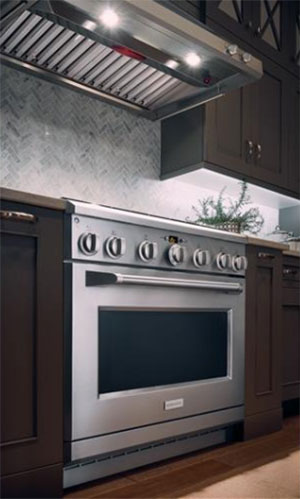 GE Monogram Gas Range Mounted