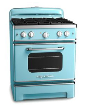 Gas range retro stove
