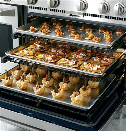 ge monogram range pastry in the oven racks