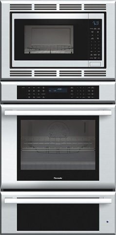Thermador MEDMCW31JS Triple Oven Masterpiece Oven plus Convection Microwave, Warming Drawer, 30 in. 2Xt Racks