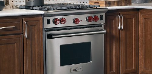 Wolf R304 30-inch Pro-Style Gas Range with 4 Dual Brass Open Burners